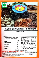 Sankhaswari chilli powder