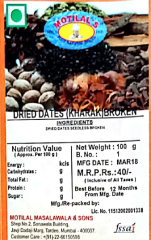Dried Dates (Kharak) Broken